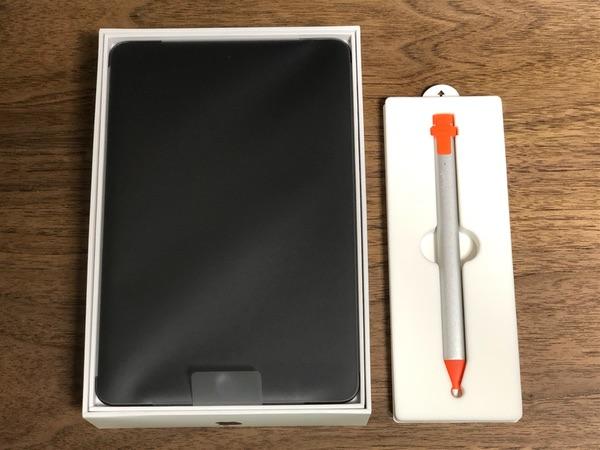 iPadmini5とロジクールクレヨン